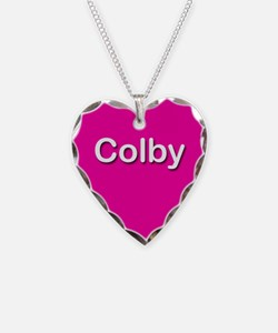 Colby Pink Heart Necklace Charm