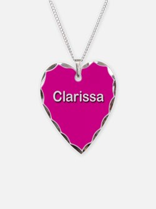 Clarissa Pink Heart Necklace Charm