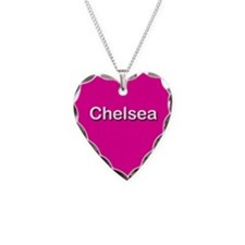Chelsea Pink Heart Necklace Charm