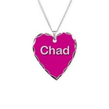 Chad Pink Heart Necklace Charm