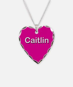 Caitlin Pink Heart Necklace Charm