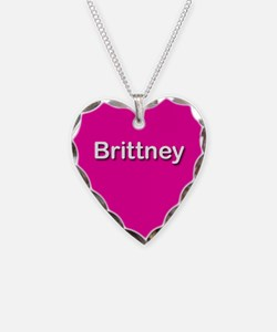 Brittney Pink Heart Necklace Charm