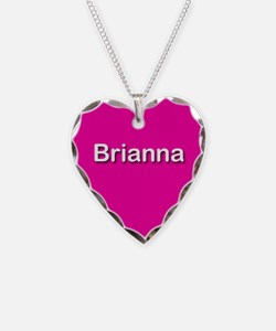 Brianna Pink Heart Necklace Charm