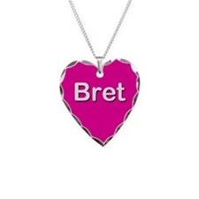 Bret Pink Heart Necklace Charm