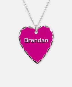 Brendan Pink Heart Necklace Charm