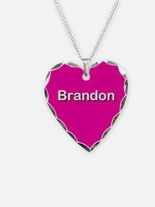 Brandon Pink Heart Necklace Charm