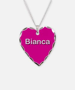 Bianca Pink Heart Necklace Charm