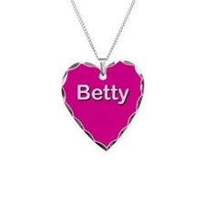 Betty Pink Heart Necklace Charm