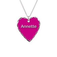 Annette Pink Heart Necklace Charm