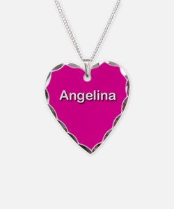 Angelina Pink Heart Necklace Charm
