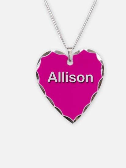 Allison Pink Heart Necklace Charm