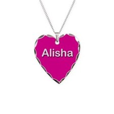 Alisha Pink Heart Necklace Charm