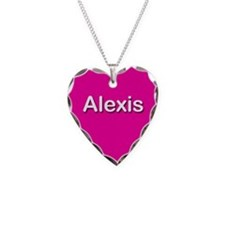 Alexis Pink Heart Necklace Charm