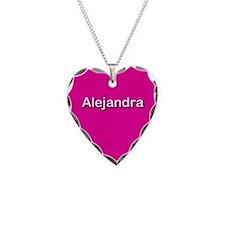 Alejandra Pink Heart Necklace Charm