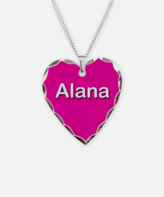 Alana Pink Heart Necklace Charm