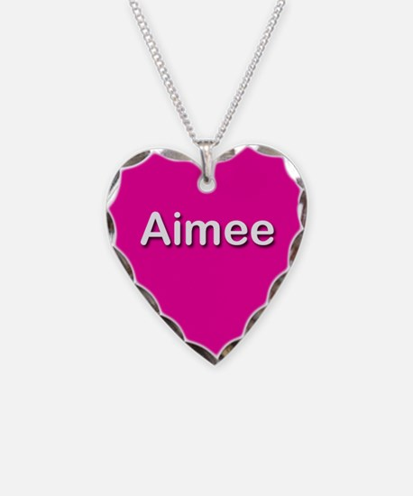 Aimee Pink Heart Necklace Charm