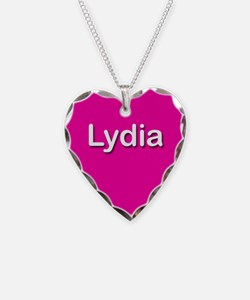 Lydia Pink Heart Necklace Charm
