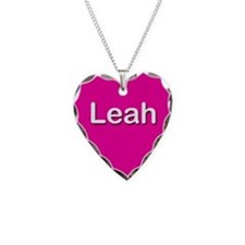 Leah Pink Heart Necklace Charm