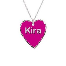 Kira Pink Heart Necklace Charm