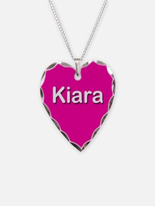 Kiara Pink Heart Necklace Charm