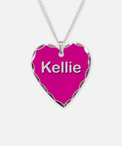 Kellie Pink Heart Necklace Charm