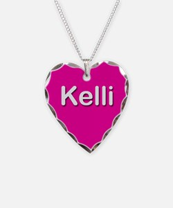 Kelli Pink Heart Necklace Charm