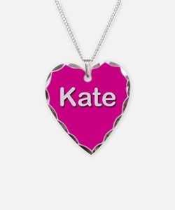Kate Pink Heart Necklace Charm