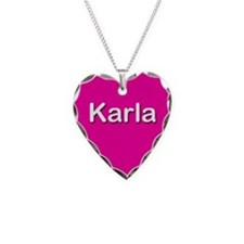Karla Pink Heart Necklace Charm