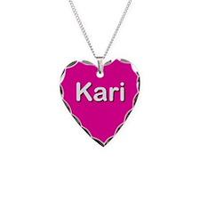 Kari Pink Heart Necklace Charm