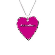 Johnathan Pink Heart Necklace Charm