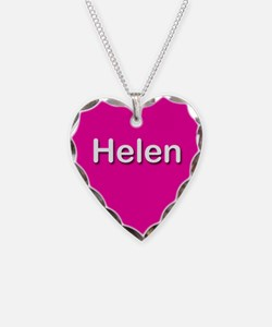 Helen Pink Heart Necklace Charm
