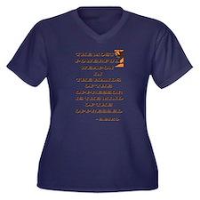 Civil Rights Women's Plus Size V-Neck Dark T-Shirt