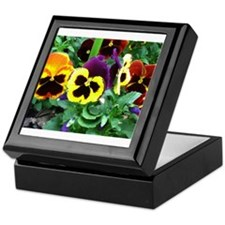 Pansies Keepsake Box
