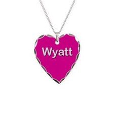 Wyatt Pink Heart Necklace Charm