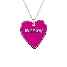Wesley Pink Heart Necklace Charm
