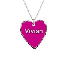 Vivian Pink Heart Necklace Charm