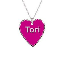 Tori Pink Heart Necklace Charm