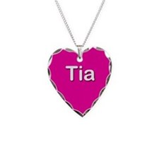 Tia Pink Heart Necklace Charm