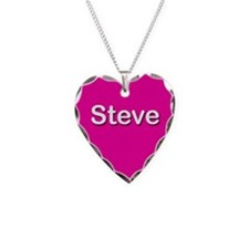 Steve Pink Heart Necklace Charm