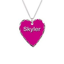Skyler Pink Heart Necklace Charm