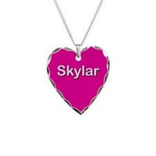 Skylar Pink Heart Necklace Charm