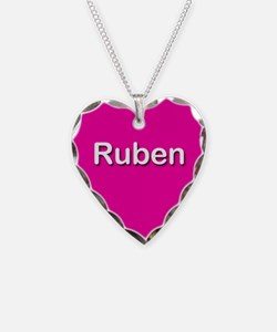 Ruben Pink Heart Necklace Charm