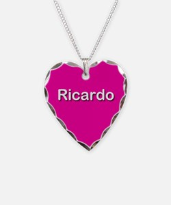 Ricardo Pink Heart Necklace Charm