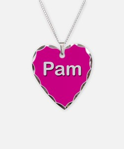 Pam Pink Heart Necklace Charm