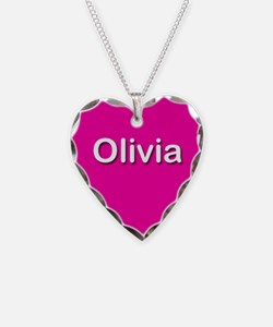 Olivia Pink Heart Necklace Charm