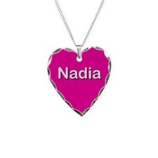 Nadia Pink Heart Necklace Charm