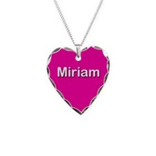 Miriam Pink Heart Necklace Charm