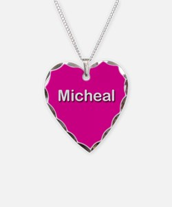 Micheal Pink Heart Necklace Charm