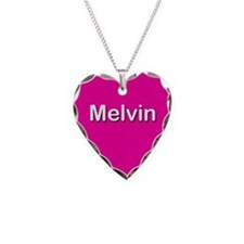 Melvin Pink Heart Necklace Charm