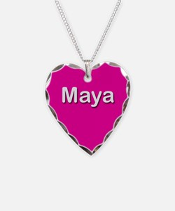 Maya Pink Heart Necklace Charm